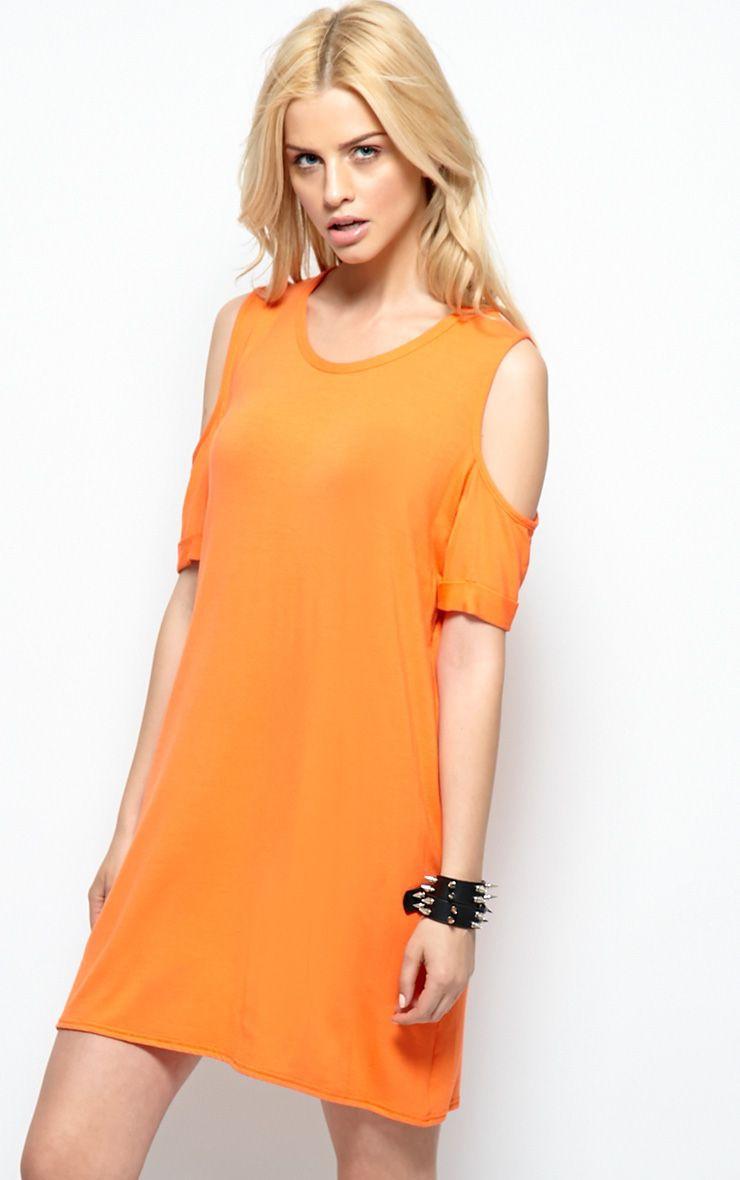 Mahlee Orange Cut Out Shoulder Top 1