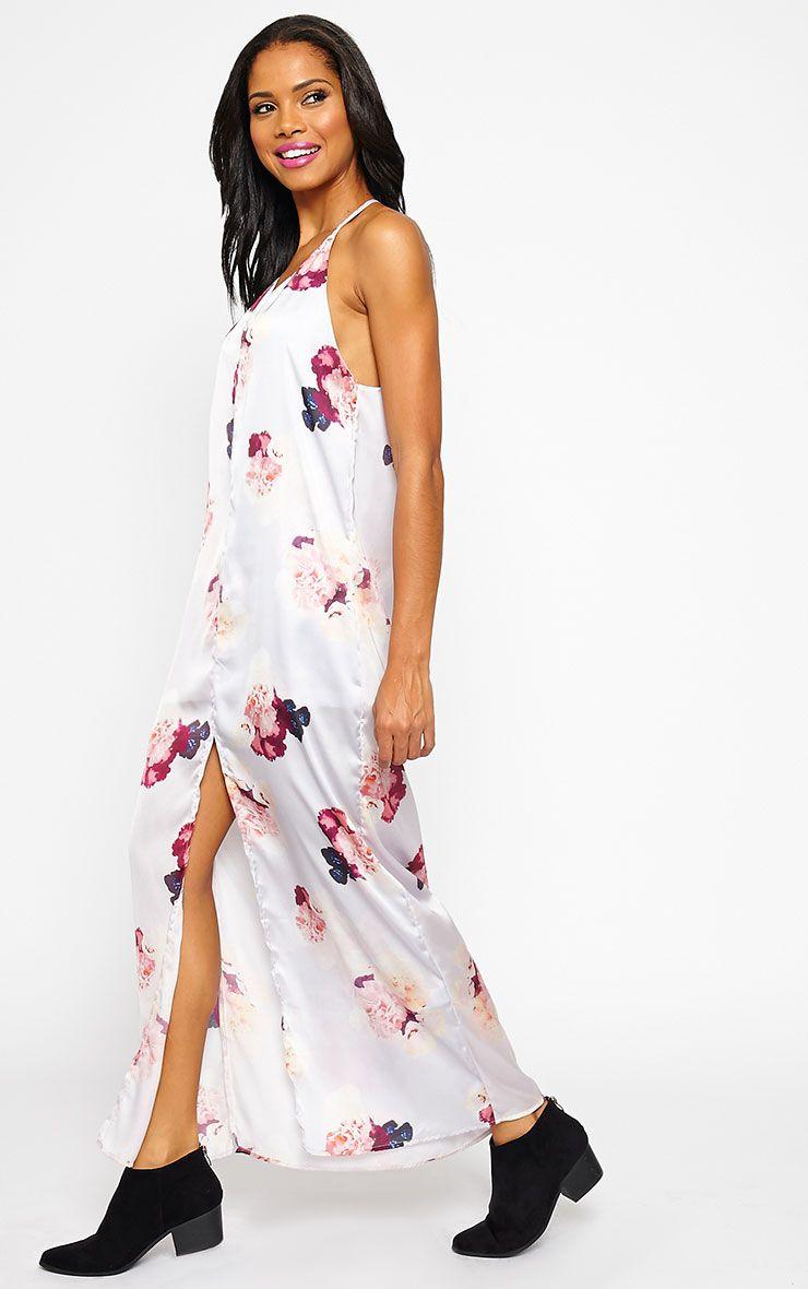 Danna Cream Floral Print Dress 1
