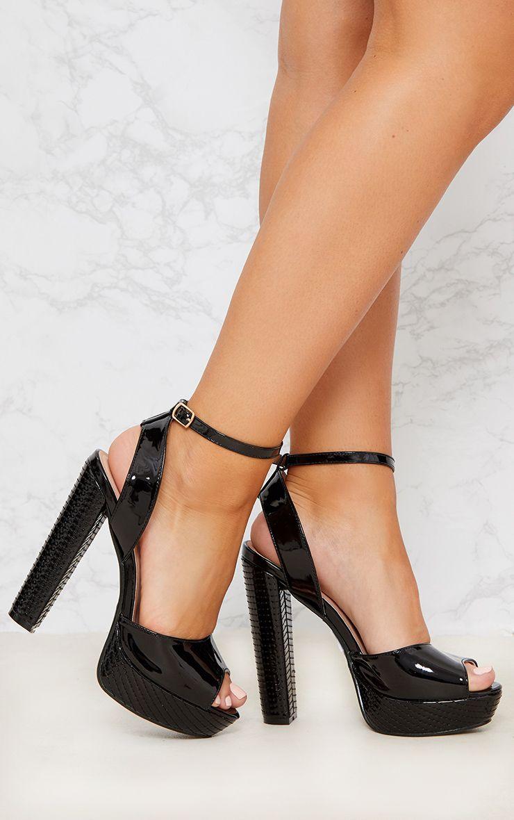 Black High Platform Heels