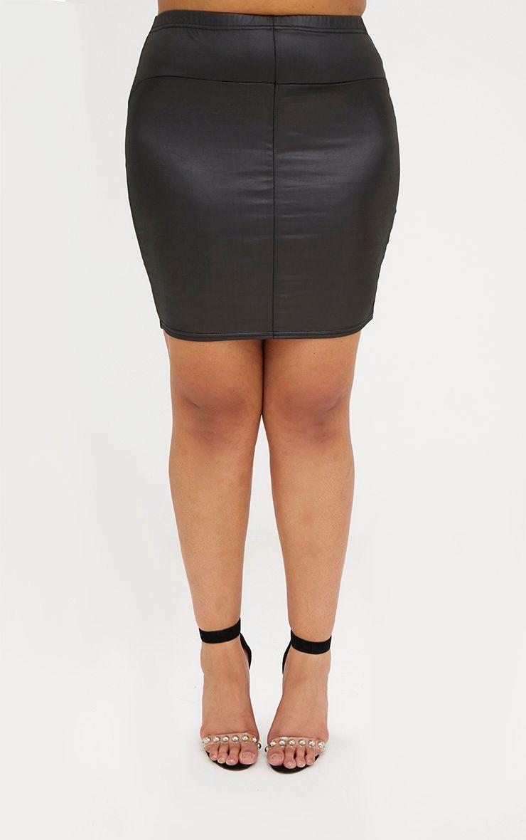 mini jupe imitation cuir noire plus plus size. Black Bedroom Furniture Sets. Home Design Ideas