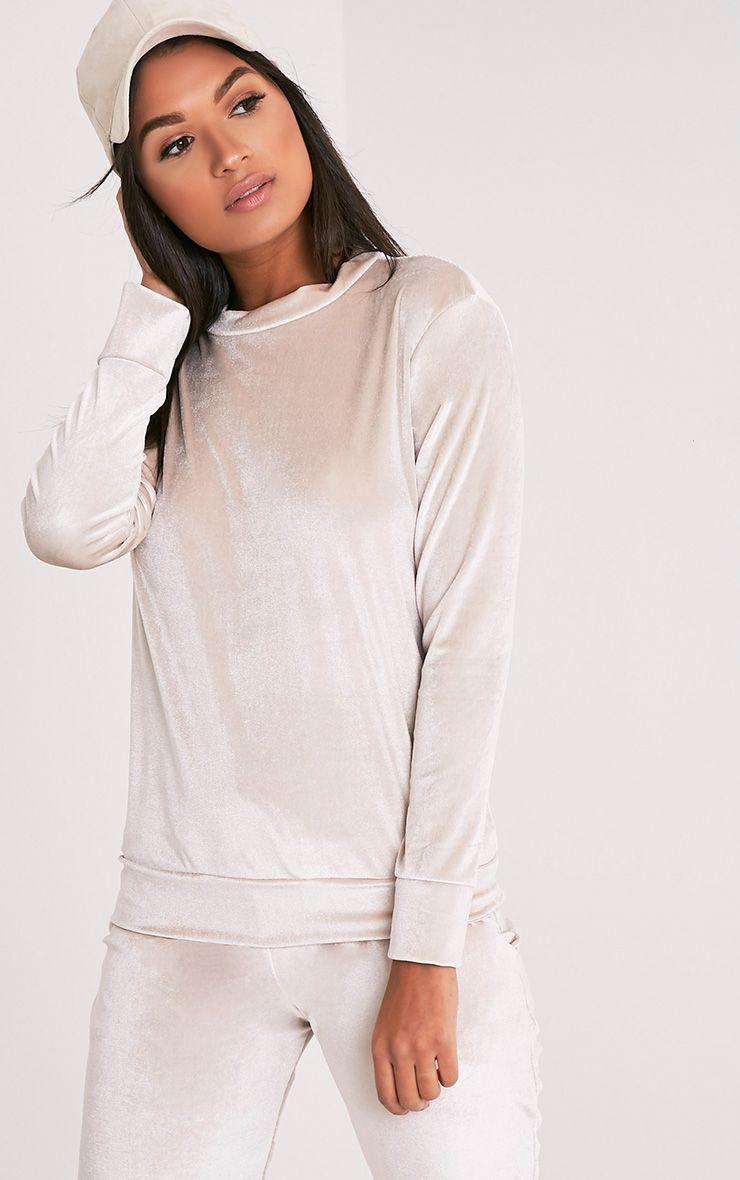 justinna stone velvet sweater