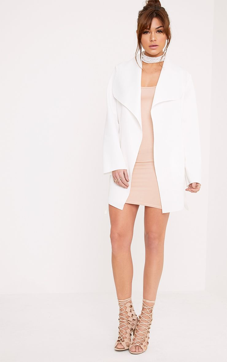 Lyla Cream Scuba Waterfall Jacket