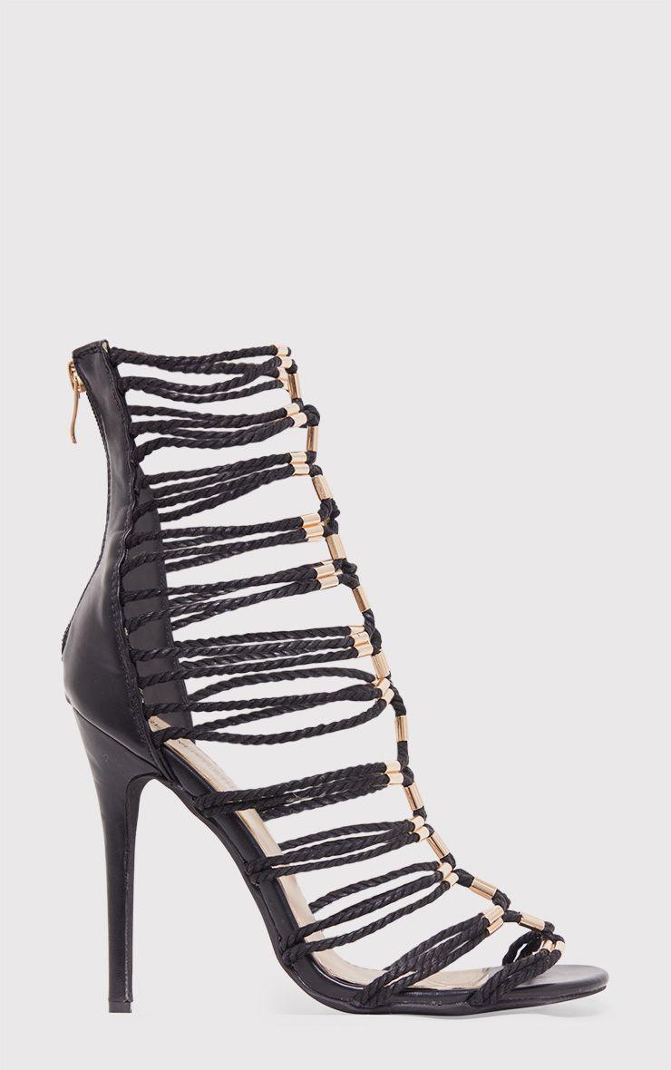 Fern sandales gladiateur noires à talons 2