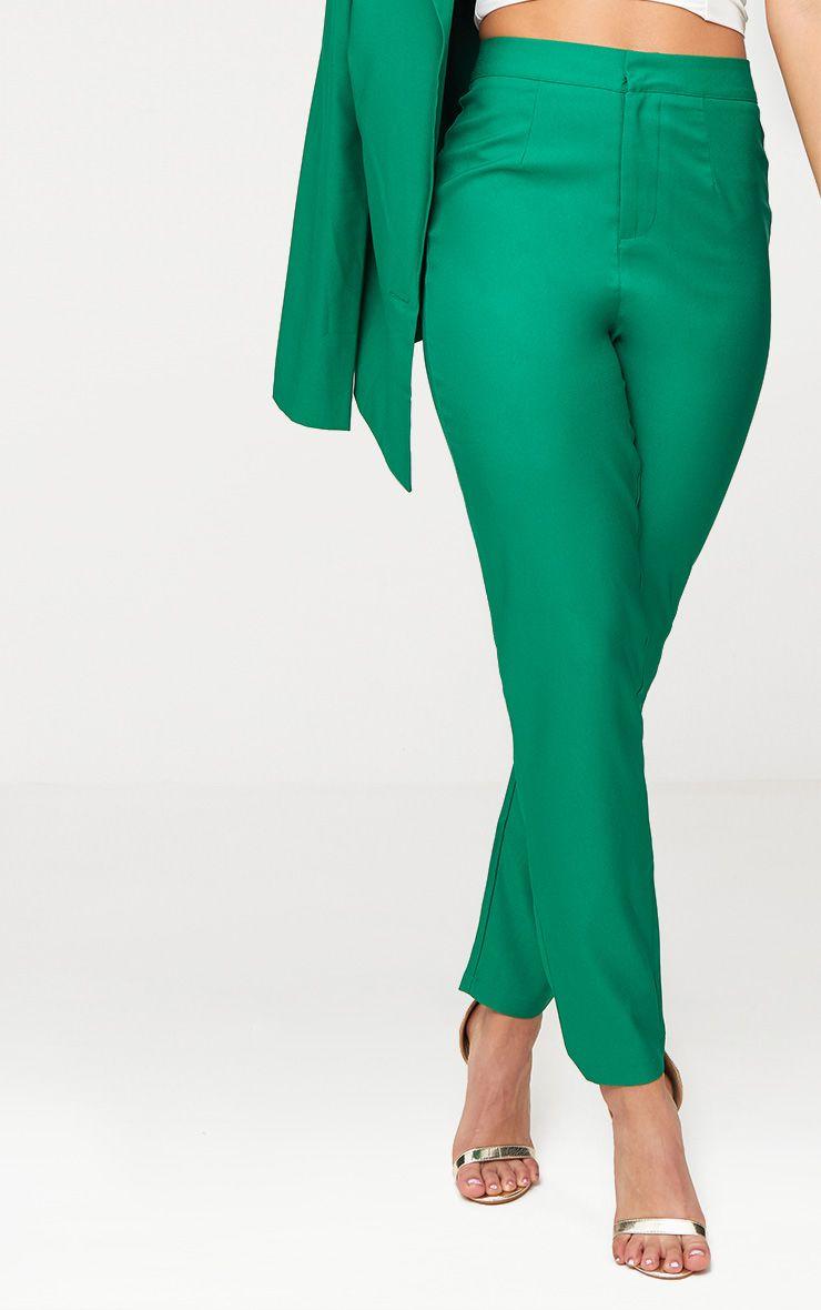 pantalon vert cintr coupe droite pantalons. Black Bedroom Furniture Sets. Home Design Ideas