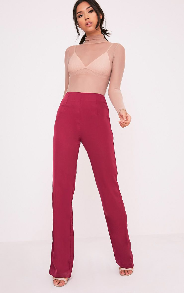 Angelia Berry High Waisted Trousers 1
