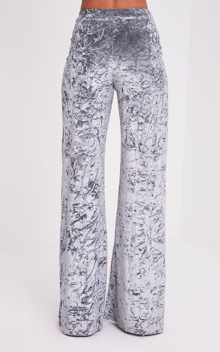 Jill pantalon en velours écrasé gris 5