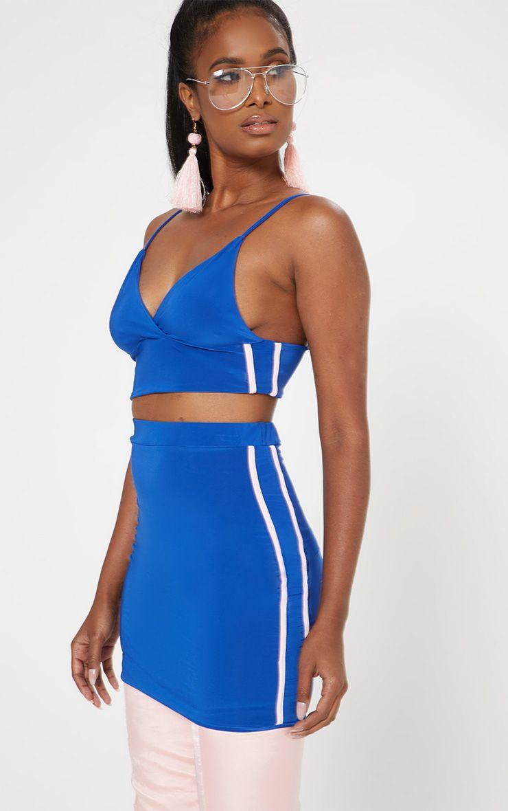 Cobalt Slinky Sports Stripe Bralet