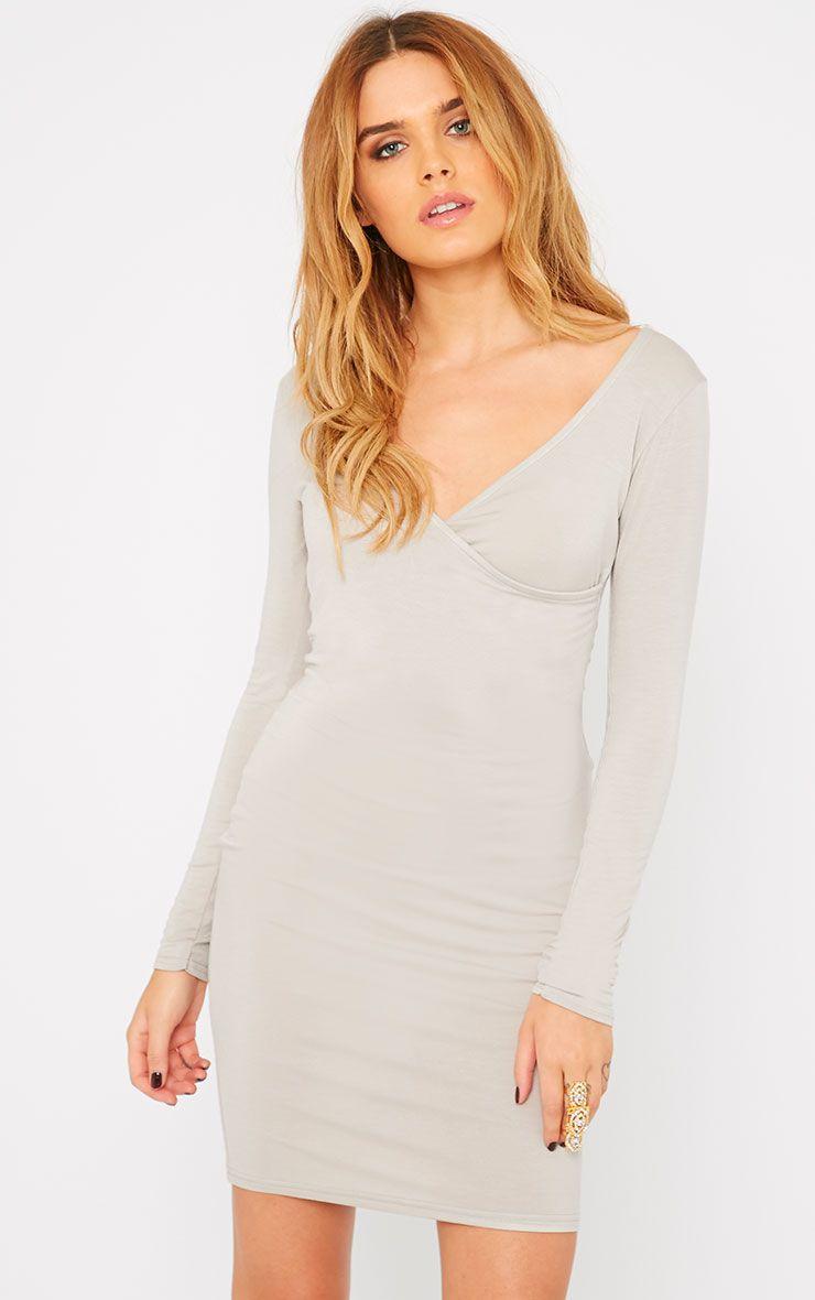 Basic Stone Wrap Dress 1