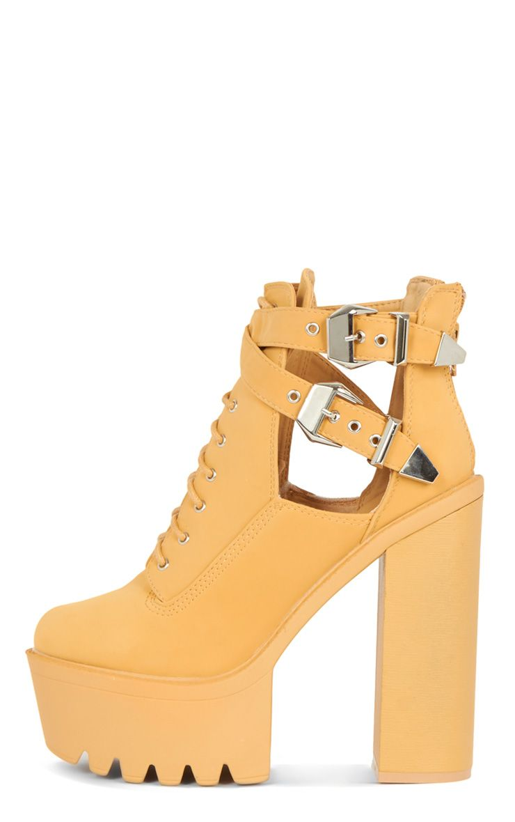 Oriana Camel Cleated Sole Extreme Heel Boot  1