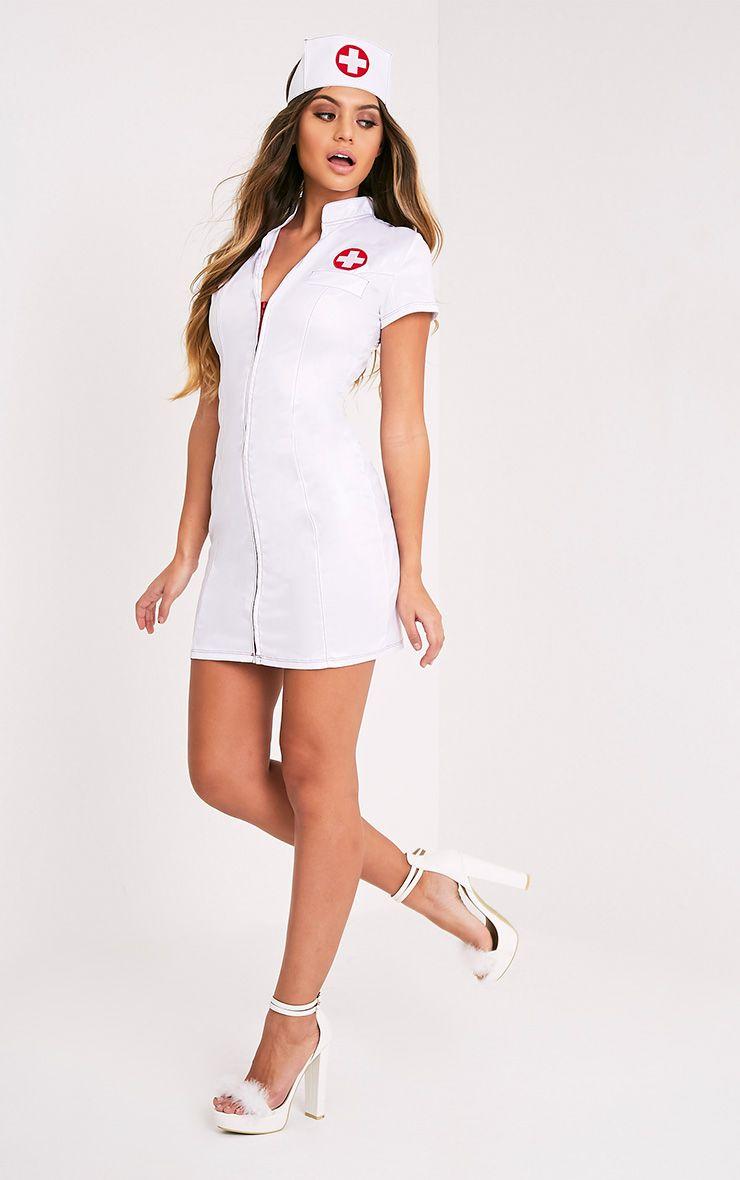 sexy nurse white fancy dress costume  fancy dress