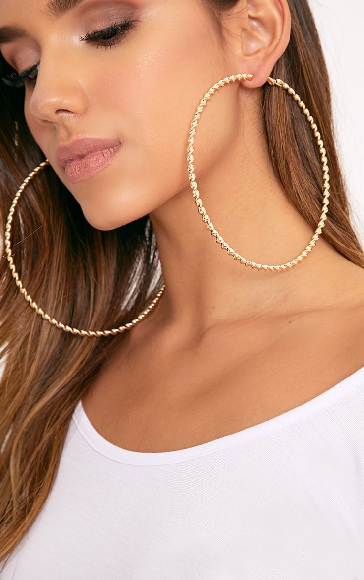 Matillda Gold Twisted Hoop Earrings