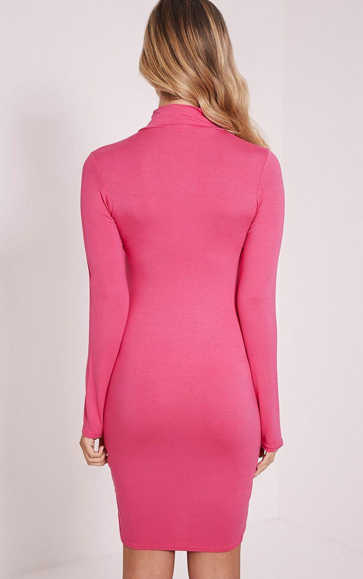 Size dress pink long sleeve bodycon hot walmart