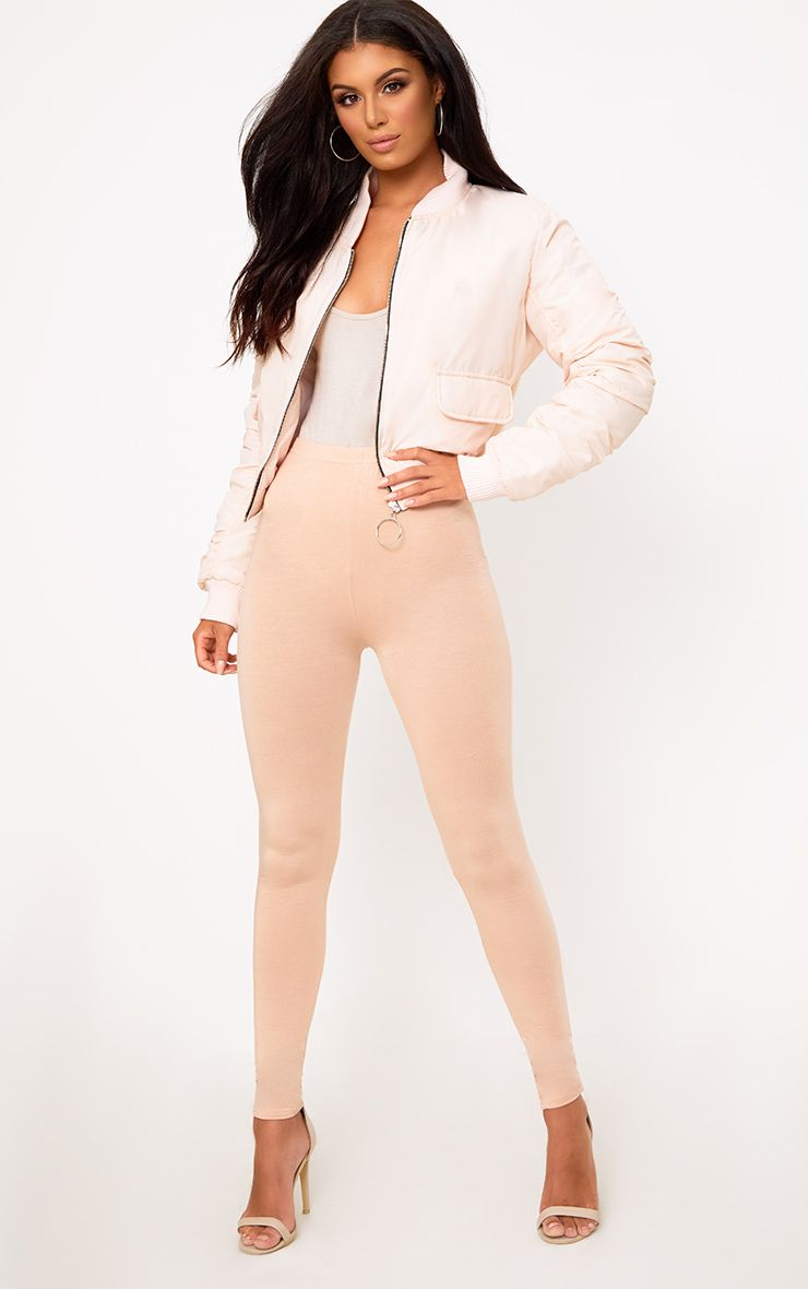 Basic Nude Jersey Leggings