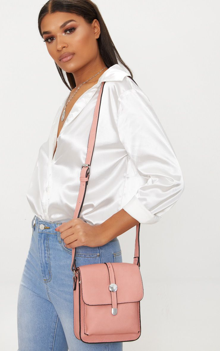 Light Pink Cross Body Strap Bag 1