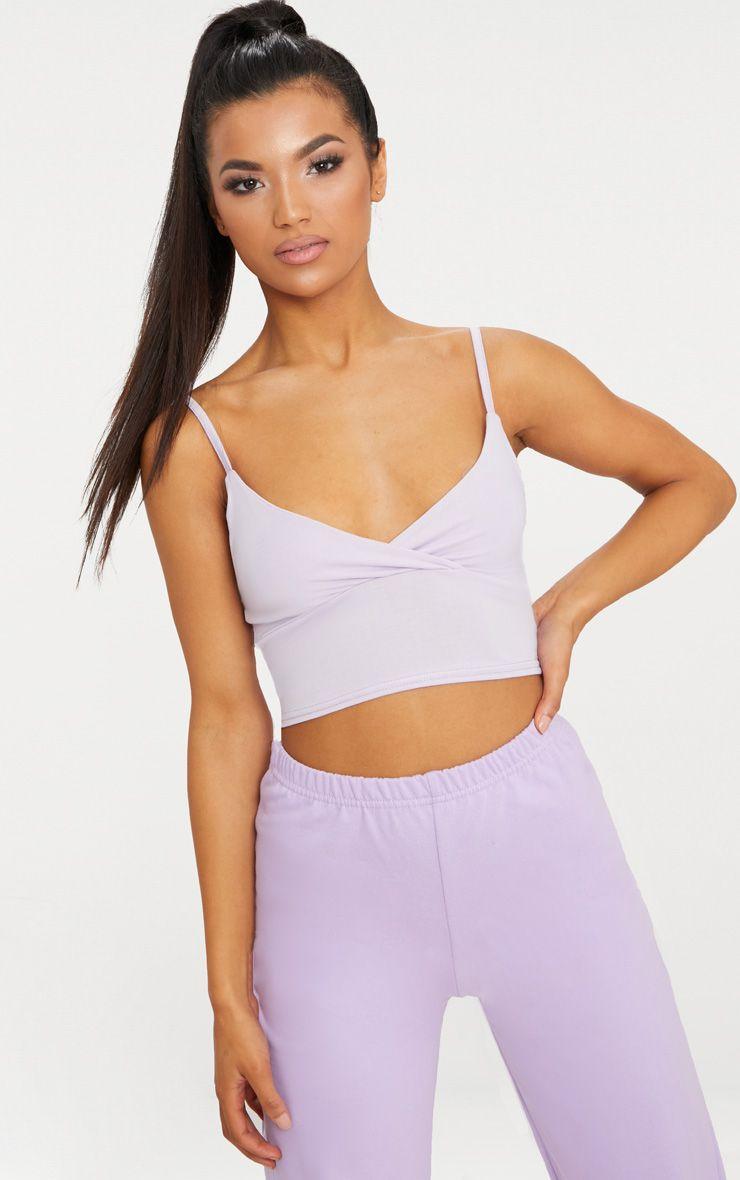 Basic Lilac Jersey Bralet