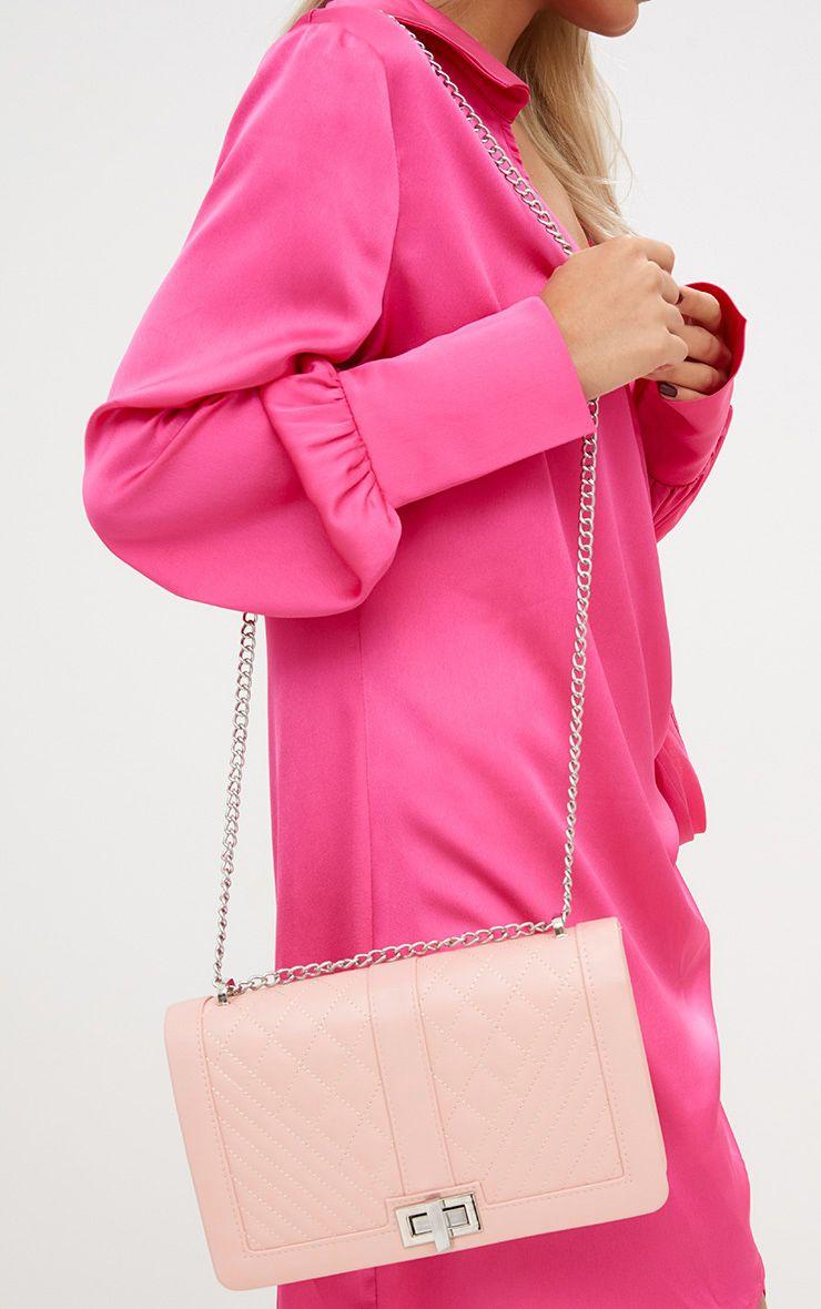 Nude Quilted Shoulder Bag