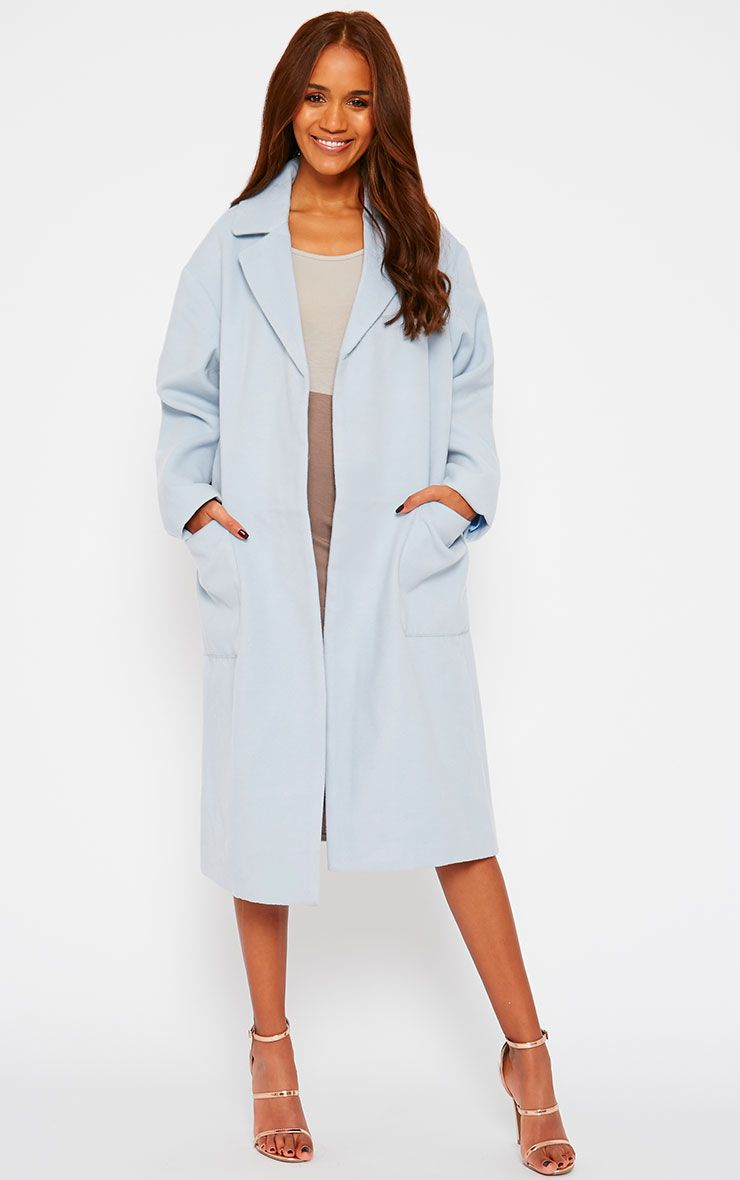 Trisha Blue Long Coat 1