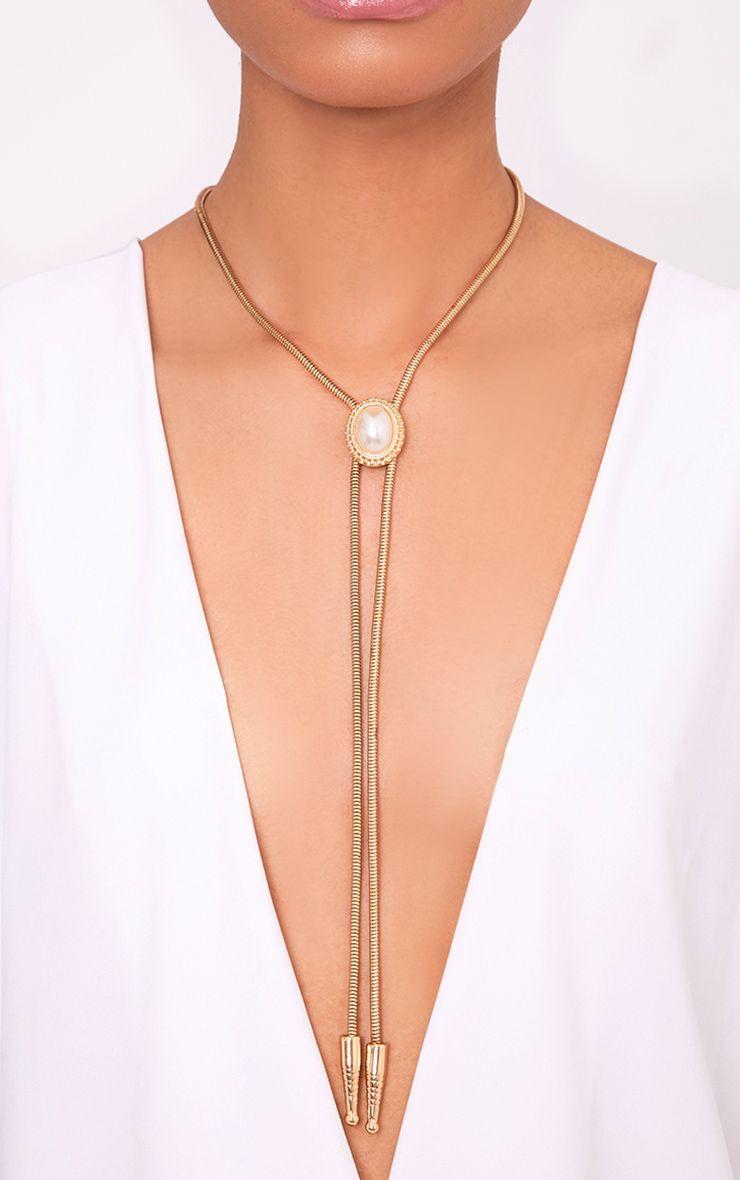 Jaylinn Gold Western Tie Necklace