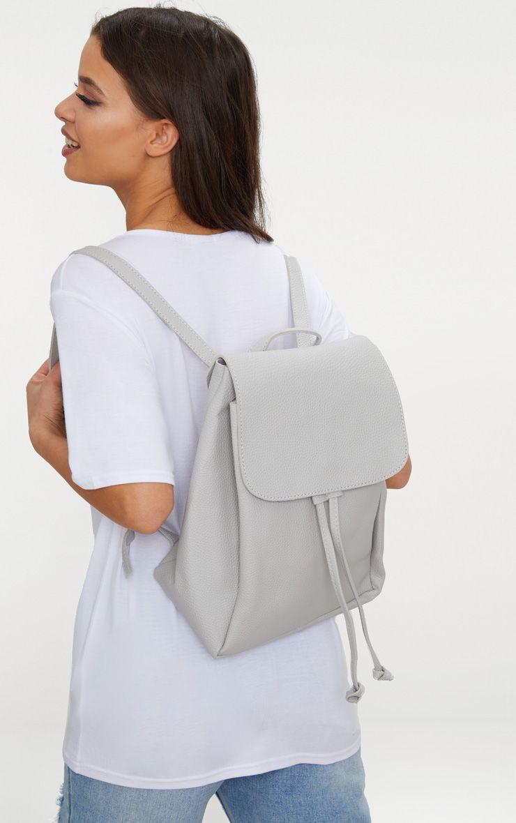 Grey Large Backpack