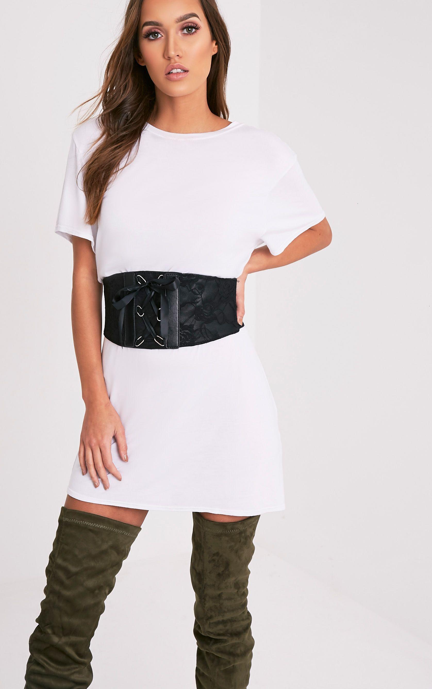 Mista Black Corset Style Belt