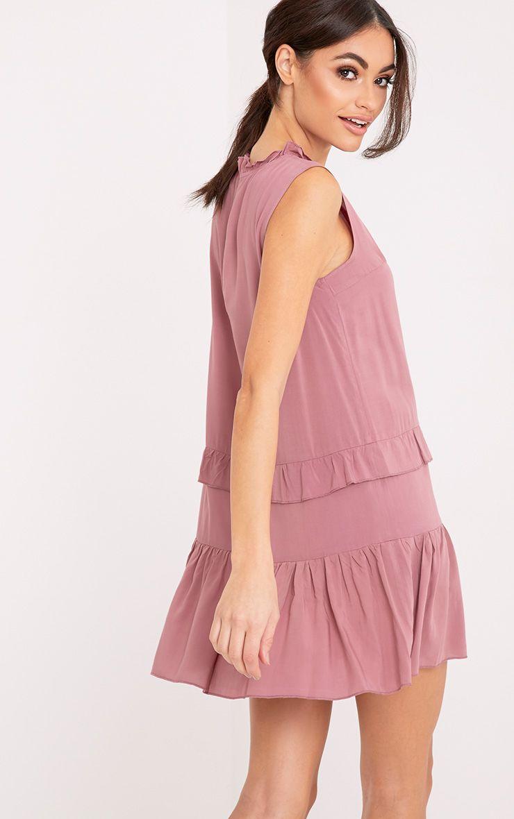 Imogen Rose High Neck Frill Swing Dress