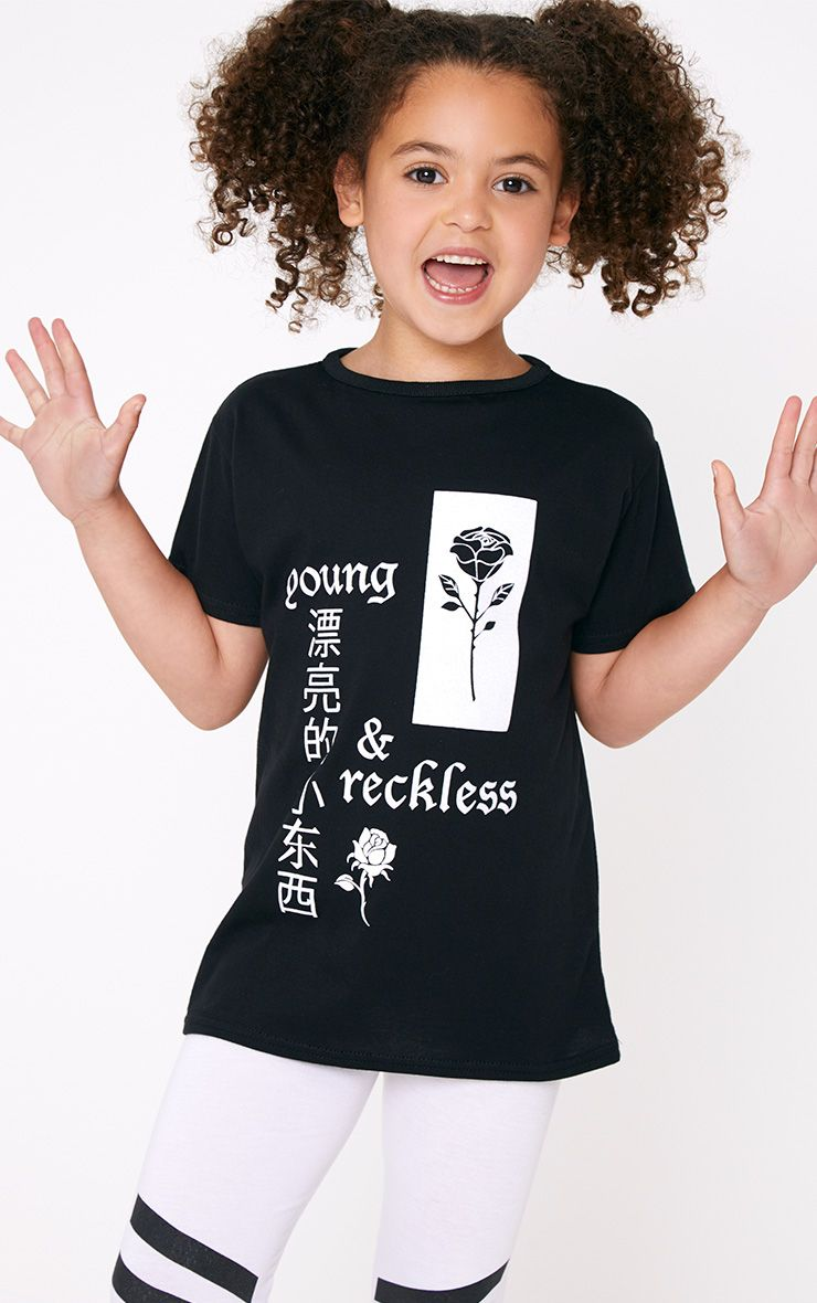 Black Young And Reckless T Shirt