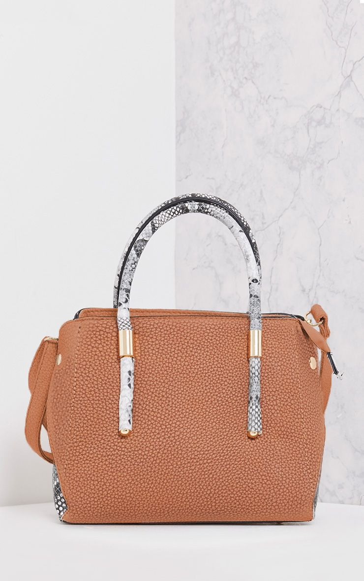 Willow Tan Snake Handle Mini Tote