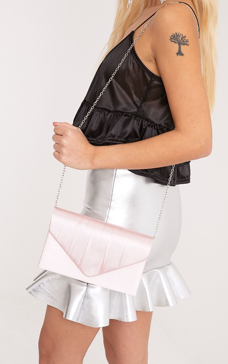 Orie Baby Pink Envelope Clutch