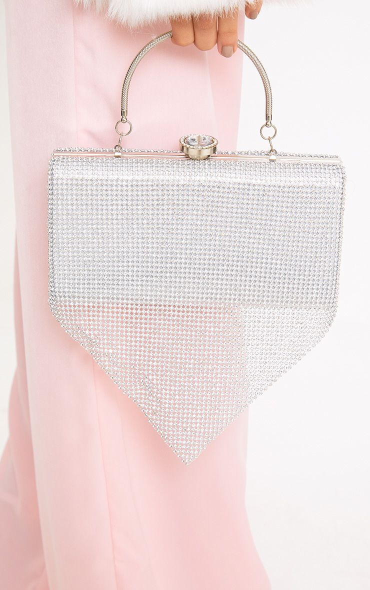 Silver Chainmail Clutch