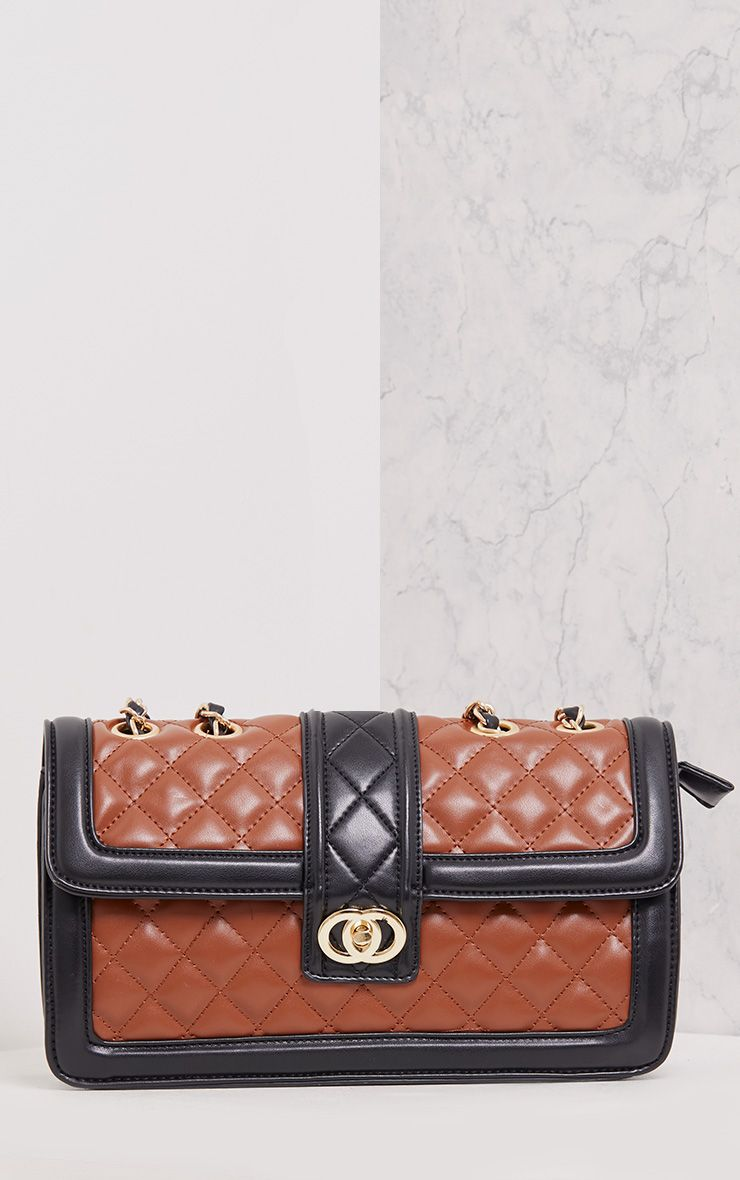 Wilney Brown Quilted Bag