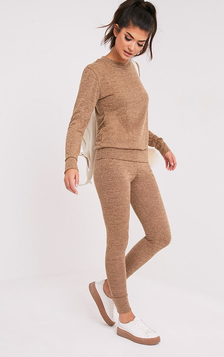 Haree Camel  Casual Tracksuit Bottoms 1