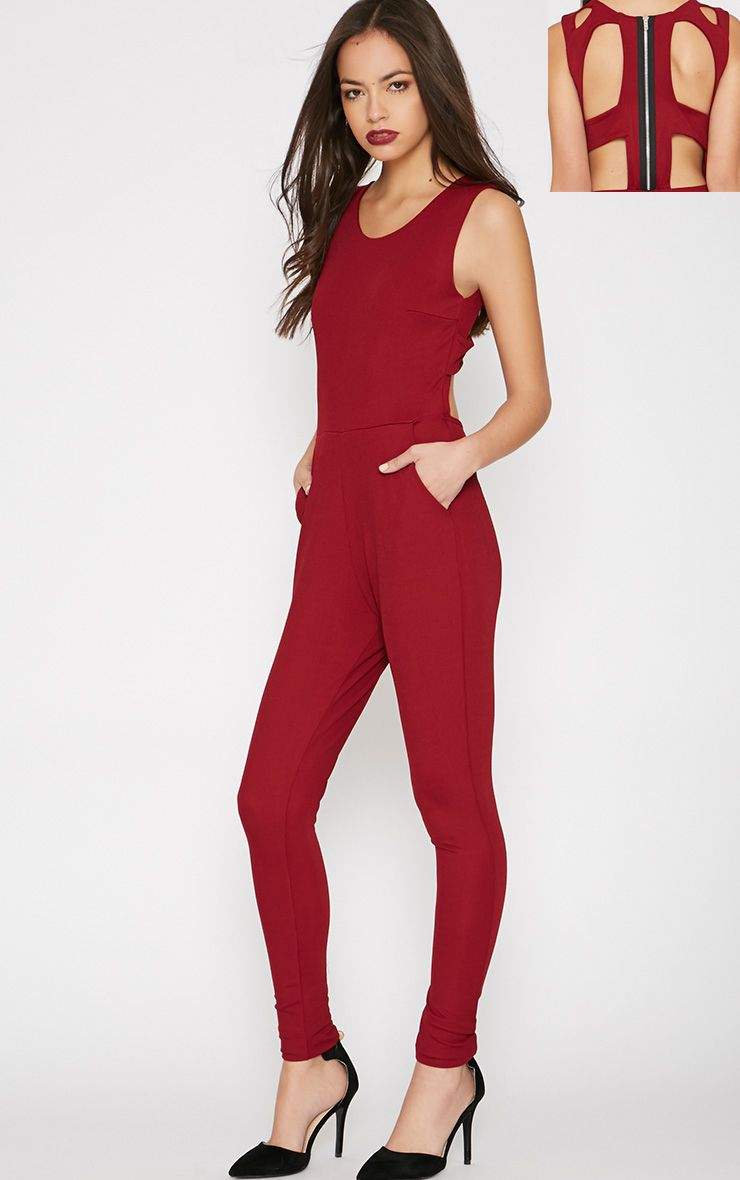Jezabel Red Cut Out Back Jumpsuit  1