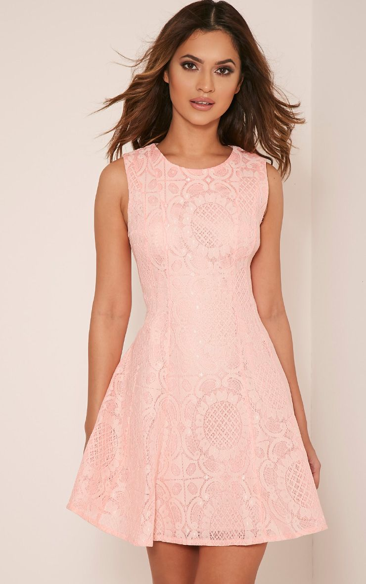 Brianna Pink Baroque Prom Dress 1