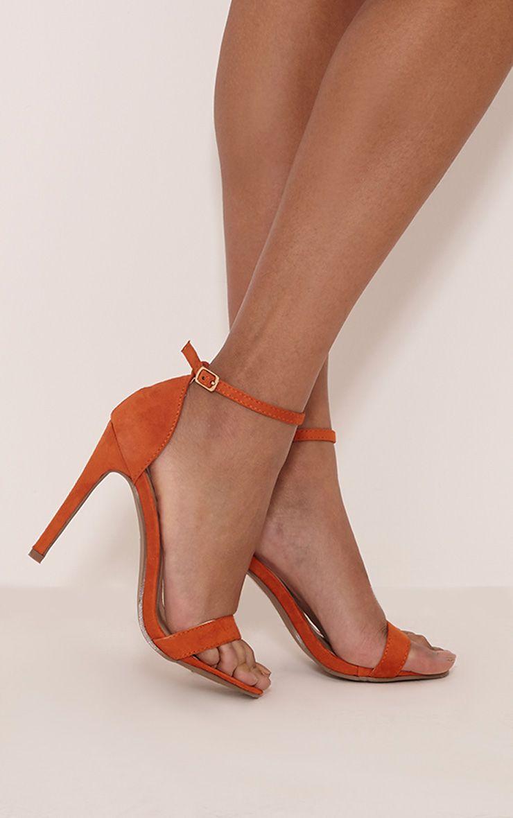 PRETTYLITTLETHING Clover Strap Heeled Sandals AN9prh