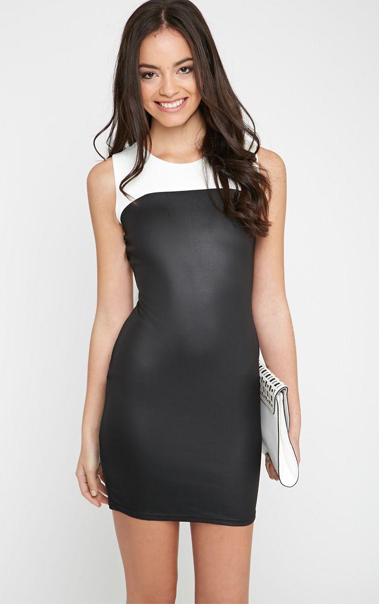 Lana Monochrome Mini Dress 1