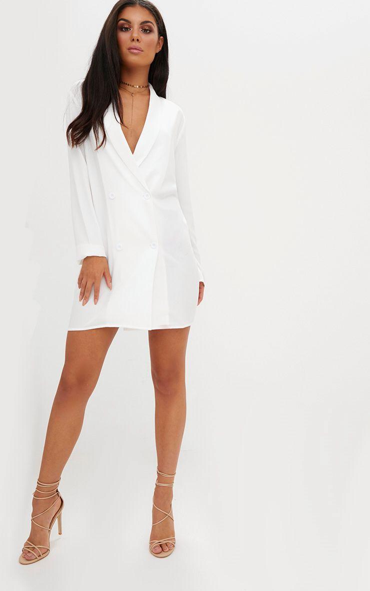 white oversized blazer shift dress. Black Bedroom Furniture Sets. Home Design Ideas