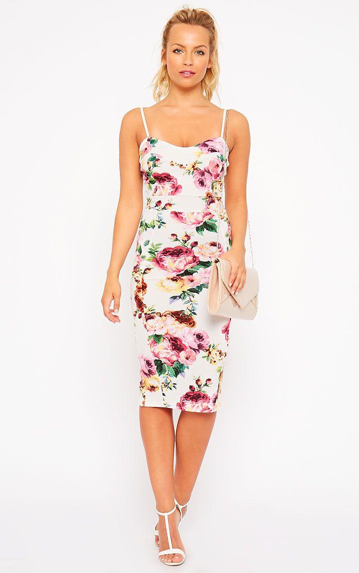 Edrie White Floral Midi Dress 1