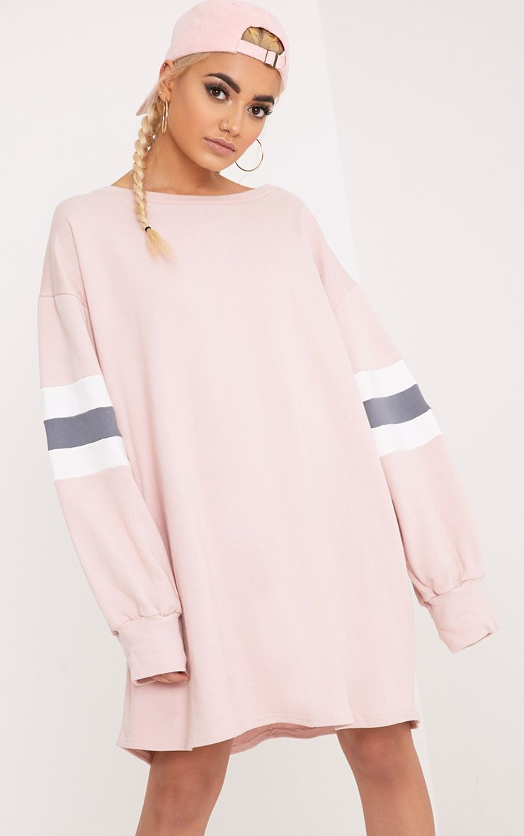 Oakley Nude Colour Block Sleeve Sweater Dress