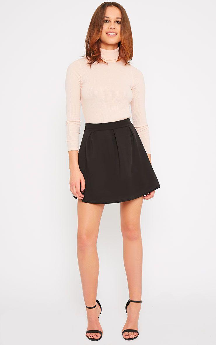 Amie Black Scuba Skater Skirt 1