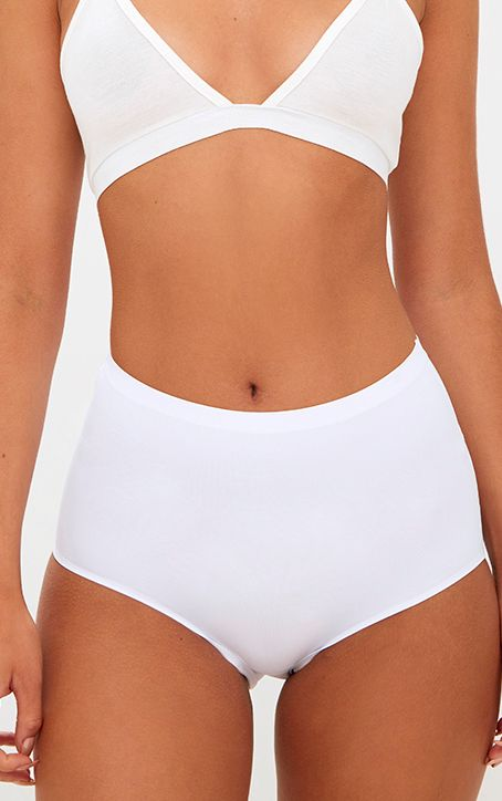 White NO VPL Invisible High Waisted Knickers