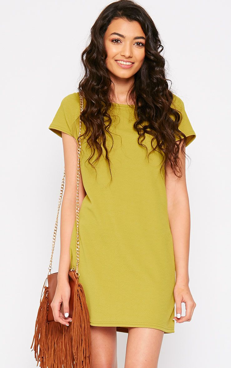 Camila Olive Loose Fit Shift Dress 1