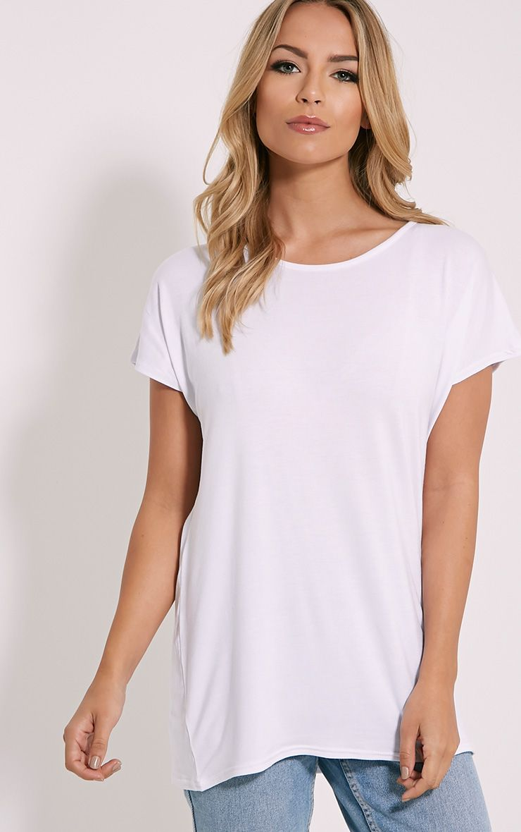 Basic White Oversized Round Neck T-Shirt