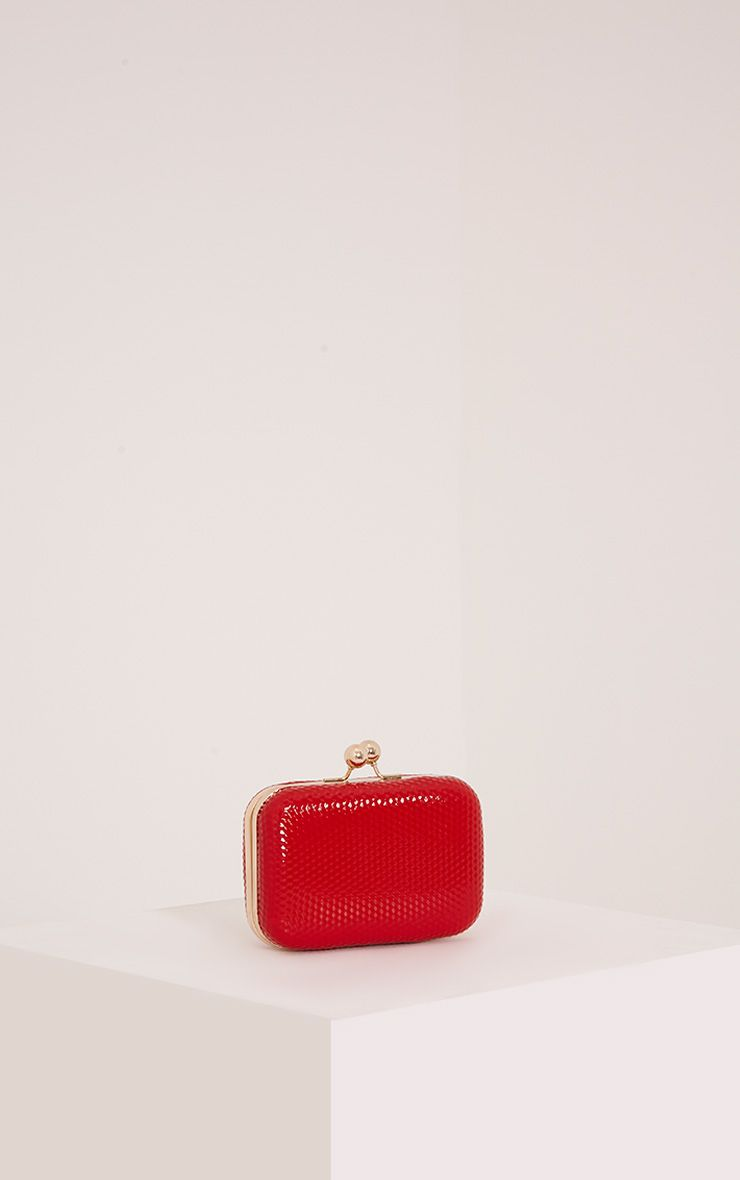 Morgan Red Box Clutch Bag Red