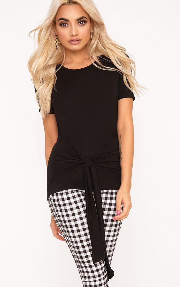 Black Tie Front T-Shirt