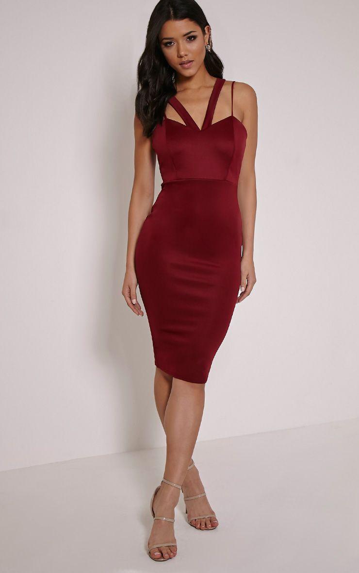 Anthea Berry Double Strap Scuba Dress 1