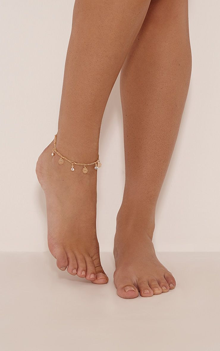 Shaynie Gold Charm Anklet