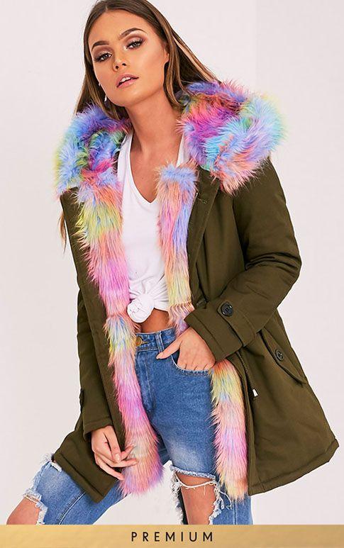 Jen Multi Faux Fur Lined Parka