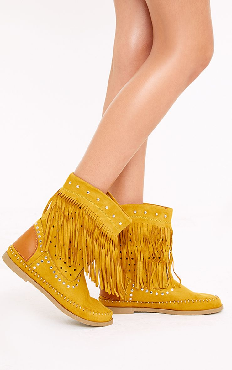 Rosanne Tan Fringed Boots