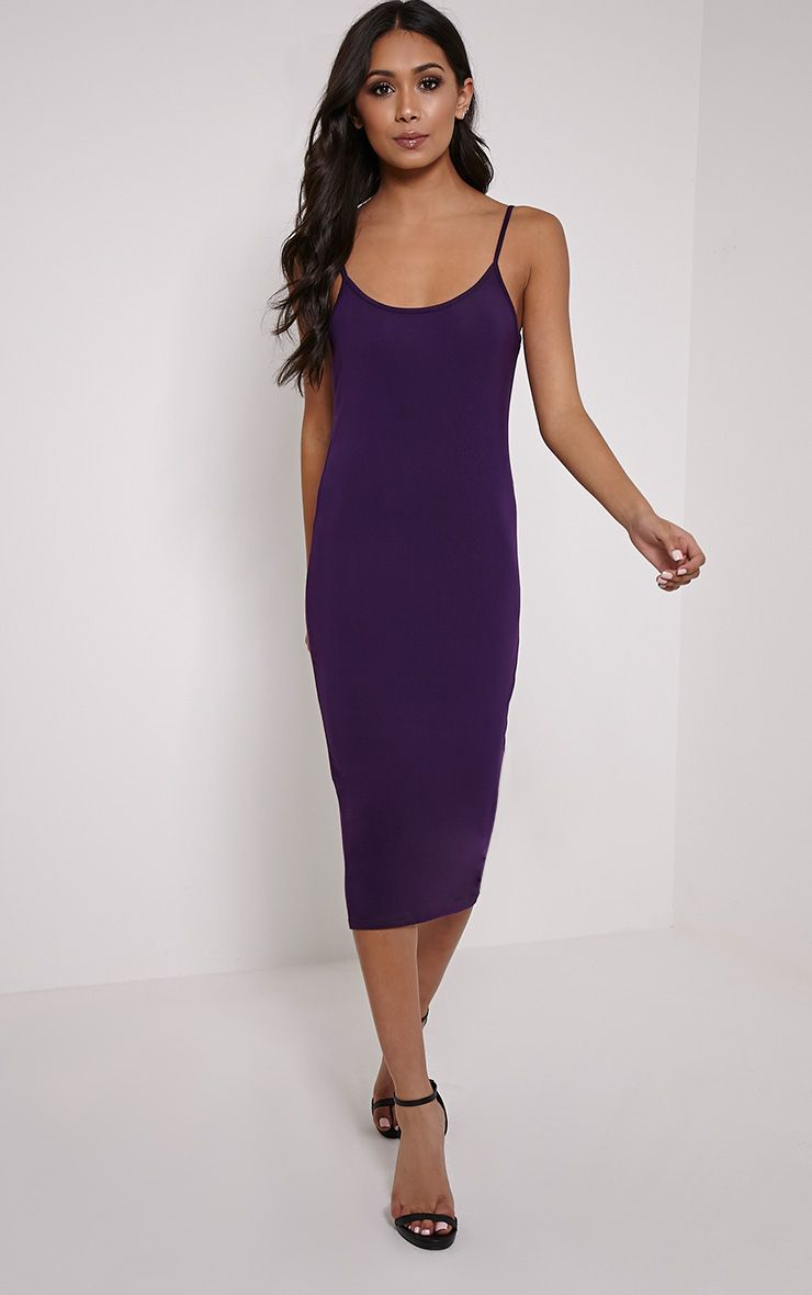 Basic Plum Midi Vest Dress 1