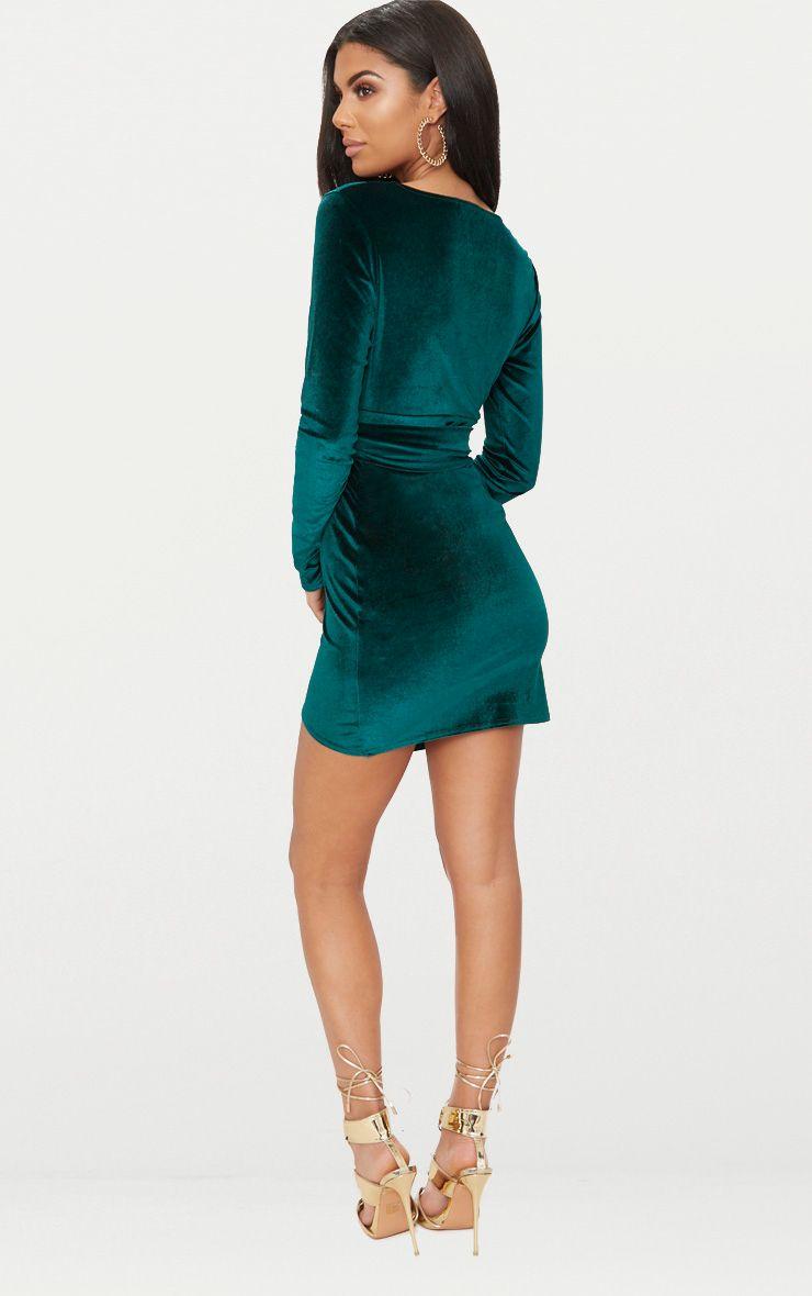 emerald mini dress